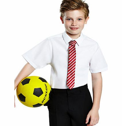 Senior Boys 2 Pack Slim Fit Short Sleeved School