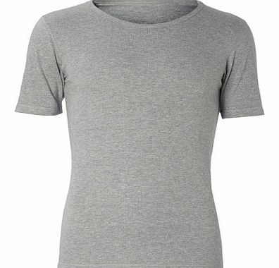 Short Sleeve Grey Thermal Top, Grey BR60M07DGRY