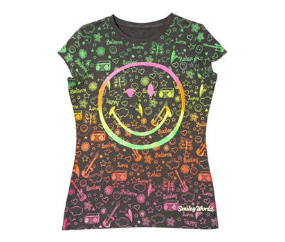 Smiley grafitti t-shirt
