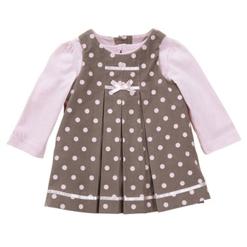 Spot cord pinny dress