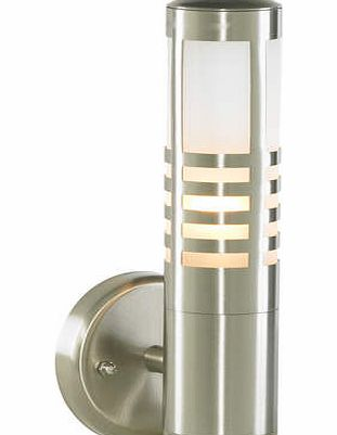 Stainless Steel Delta Slatted Wall Light,