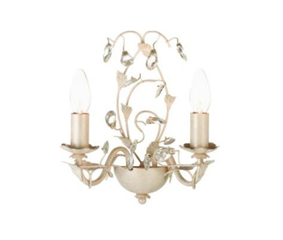 Tahlia wall light, cream gold