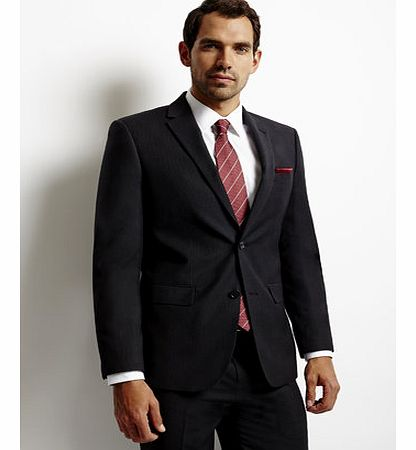 Tailored Charcoal Grey Stripe Suit Jacket with