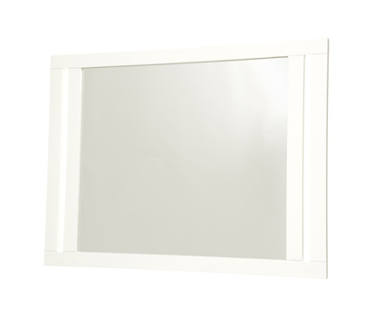 White bathroom wall mirror