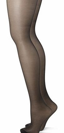 Womens Black 2 Pairs of 10 Denier Control Matt