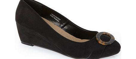 Womens Black Classic Tortoiseshell Shoes, black