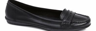 Womens Black Hush Puppies Ceil Penny Moccasin