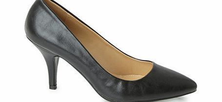 Womens Black Point Court Shoes, black 2844188513