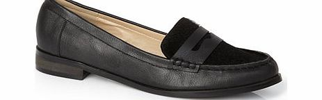 Womens Black Pony Moccasin Shoes, black 2842908513
