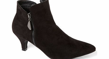Womens Black Side Zip Shoe Boot, black 2844268513