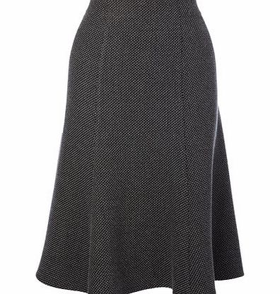 Womens Black Textured Flippy Skirt, black