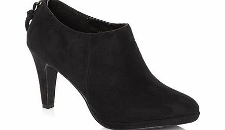 Womens Black Zip Back Platform Shoe Boot, black