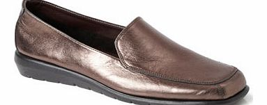 Womens Bronze TLC Formal Loafers, bronze