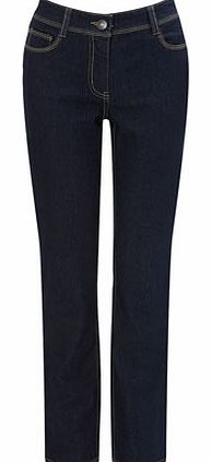 Womens Darkwash Regular Length Straight Leg