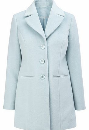 Womens Duck Egg Blue Petite Crombie Coat, duck