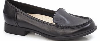 Womens Hush Puppies Black Blondell Loafer Shoes,