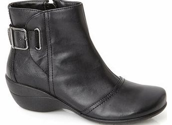 Womens Hush Puppies Black Kana Ankle Boots,