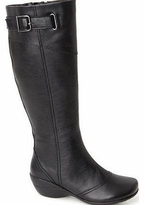 Womens Hush Puppies Black Kana Long Boots, black