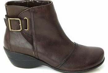 Womens Hush Puppies Brown Kana Ankle Boots,