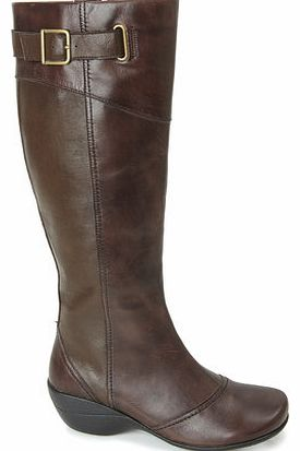 Womens Hush Puppies Brown Kana Long Boots, brown