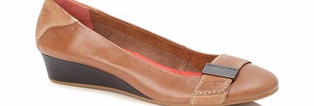 Womens Hush Puppies Tan Candid Pump, tan