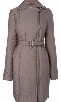 Womens Mink Smart Quilted Coat, mink 9853100120
