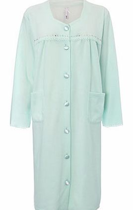 Womens Mint Heart Cut Out Design Housecoat, mint