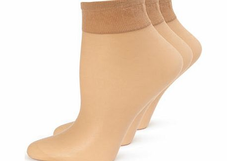 Womens Natural Tan 3 Pairs Of Premium Soft Shine
