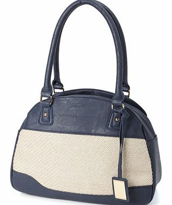Womens Navy Formal Canvas 3 Compartment Shoulder