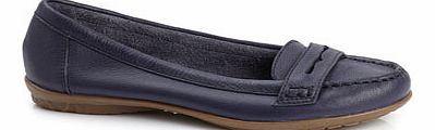 Womens Navy Hush Puppies Ceil Penny Moccasin