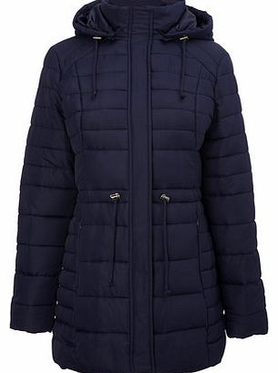 Womens Navy Lightweight Puffer Coat, navy