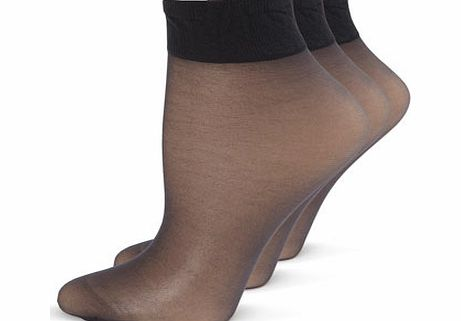 Womens Nearly black 3 Pairs Of Premium Soft