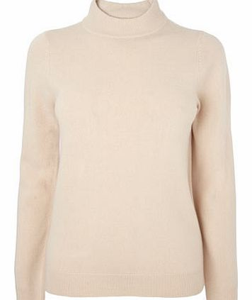 Womens Oatmeal Supersoft Turtle Neck Jumper,