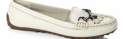 Womens Off White Hush Puppies Dalby Moccasin