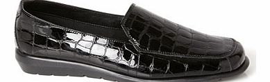 Womens Patent TLC Croc Formal Loafers, patent