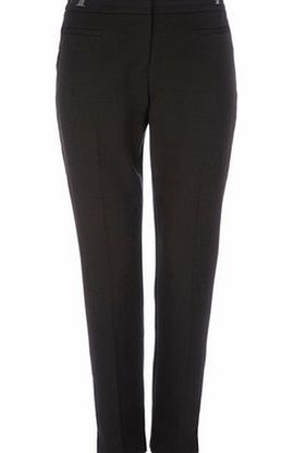Bhs Womens Petite Black Tab Flood Trouser, black