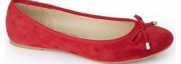 Womens Red Ballet Pump, red 2842920007