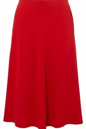 Womens Red Lady Midi Skirt, red 356103874