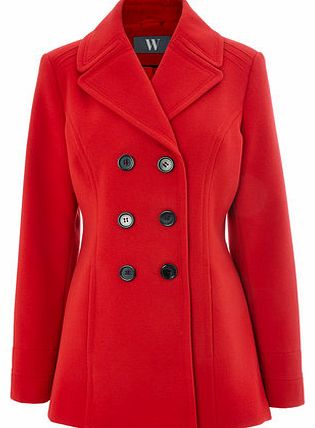 Womens Red Peacoat, red 8317203874