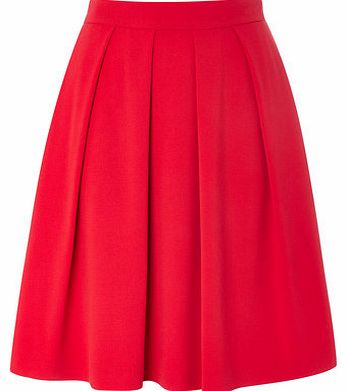 Womens Red Zip Back Pleated Skirt, red 356113874