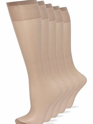 Womens Taupe 5 Pairs of Outstanding Value 15