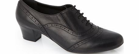 Womens TLC Black Wide Fit Lace Up Trouser Shoe,