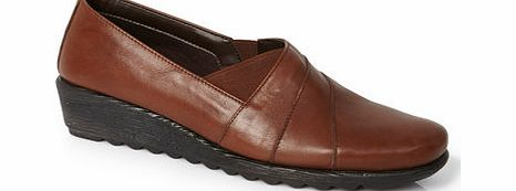 Womens TLC Chestnut Leather Asymetric Scratch