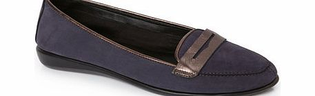 Womens TLC Navy Contrast Tab Loafer, navy