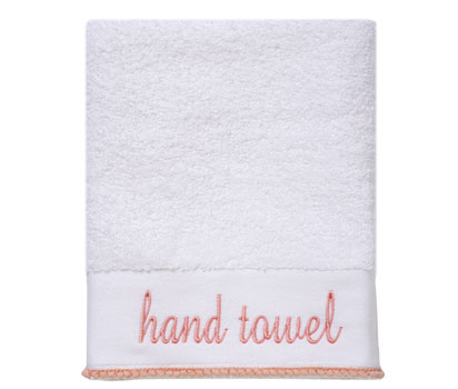 Word hand towel