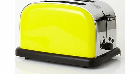 Yellow Essentials 2 Slice Toaster, yellow