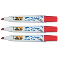 Velleda 1701 Whiteboard Marker Red Pack 12