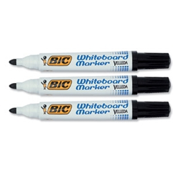 Velleda 1751 Whiteboard Marker Black Pack 12