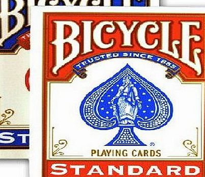 Bicycle 1 X 2 New amp; Sealed Decks of Bicycle Playing Cards - 1 Red amp; 1 Blue