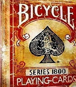 Bicycle Marked Vintage 1800 Deck - Red (Bicycle Cards)